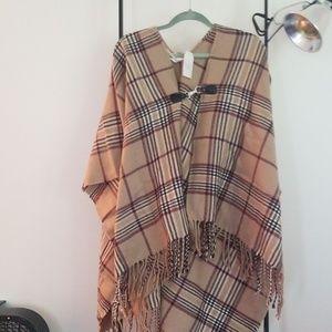 Sweaters - NWT Plaid Poncho